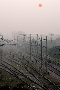 Sunrise on the tracks