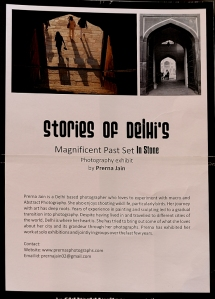 """Stories Of Delhi's Magnificent Past Set In Stone"" Photography exhibit by Prerna Jain at India Habitat Centre, Delhi, March 1- 31, Delhi O' Delhi Foyer"